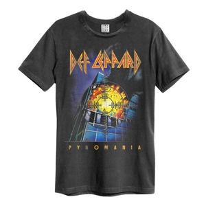 Tričko metal AMPLIFIED Def Leppard PYROMANIA černá L