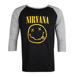 Tričko metal ROCK OFF Nirvana Yellow Smiley černá XXL