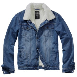 bunda pánská BRANDIT - Sherpa - 3171-denim blue+off white S