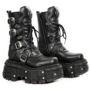 boty kožené NEW ROCK CRUST NEGRO černá 42