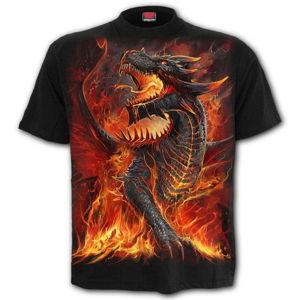 tričko SPIRAL DRACONIS černá XL