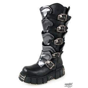 boty kožené NEW ROCK Gladiator Boots (738-S1) Black-Grey černá šedá 42
