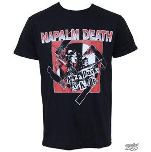 Tričko metal RAZAMATAZ Napalm Death Nazi Punks černá vícebarevná XL