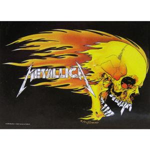 HEART ROCK Metallica Skull & Flames