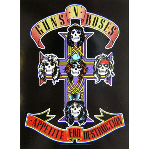 HEART ROCK Guns N' Roses Cross