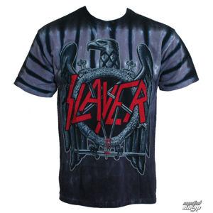 Tričko metal LIQUID BLUE Slayer Eagle černá šedá S