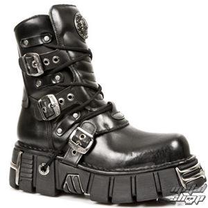 boty kožené NEW ROCK 1010-S1 černá 46