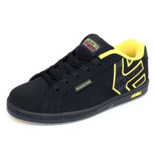 tenisky nízké ETNIES Kids Rockstar Fader černá žlutá
