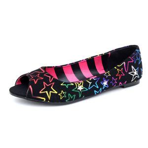 baleríny ABBEY DAWN Avril Lavigne Starstruck Peep Toe Flat černá vícebarevná 40