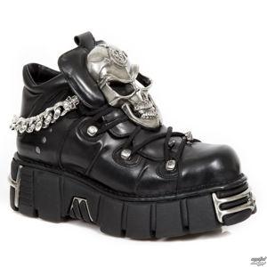 boty kožené NEW ROCK NOMADA TOWER ACERO černá 37