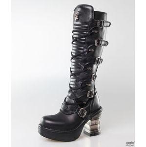 boty na podpatku NEW ROCK 8272-S2 černá vícebarevná 37