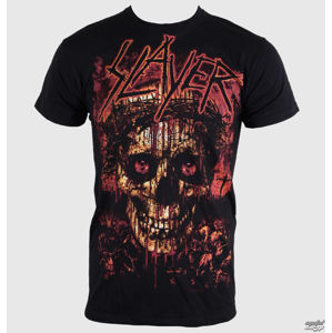 Tričko metal ROCK OFF Slayer Crowned Skull černá L