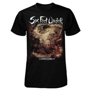 Tričko metal ART WORX Six Feet Under Commandment černá L