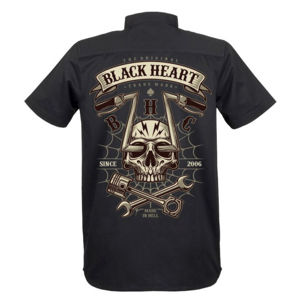 košile BLACK HEART CHOPPER SKULL