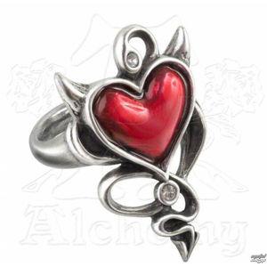 prsten ALCHEMY GOTHIC - Devil Heart - ULFR6 T