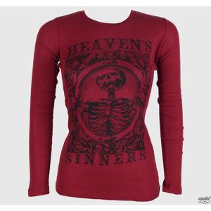 tričko hardcore SE7EN DEADLY Heaven Sinners Red červená XL