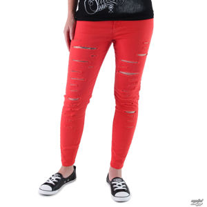 kalhoty jeans VANS High Rise Back Zip Flame M