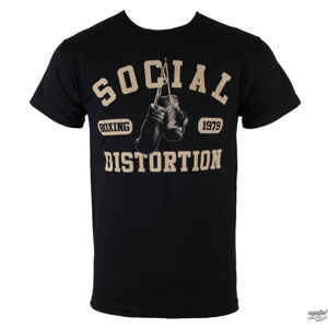 Tričko metal BRAVADO Social Distortion Boxing Gloves černá