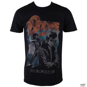 tričko metal ROCK OFF David Bowie 1972 World Tour černá XXL
