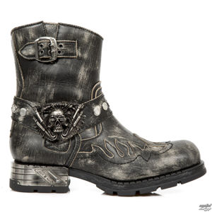boty kožené NEW ROCK černá 38