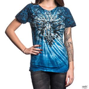 tričko hardcore AFFLICTION Cypress černá modrá