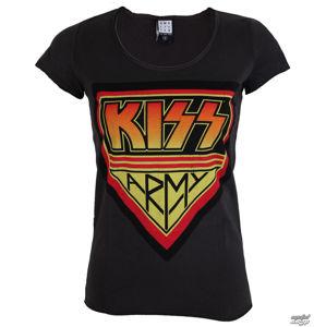 Tričko metal AMPLIFIED Kiss DISTRESSED ARMY CHARCOAL černá XL