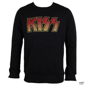 mikina bez kapuce AMPLIFIED Kiss Logo černá M