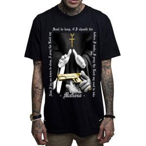 tričko hardcore MAFIOSO BAPTISM černá M