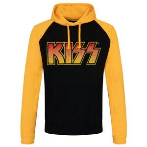mikina s kapucí HYBRIS Kiss Distressed Logotype černá