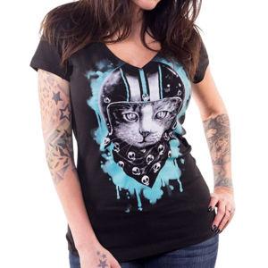 tričko hardcore LETHAL THREAT ANGEL BIKER CAT černá S