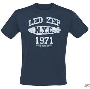 tričko metal NNM Led Zeppelin NYC 1971 černá XXL