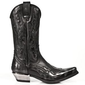 boty kožené NEW ROCK 7921-S3 černá 42