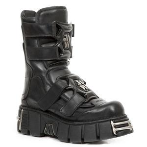 boty kožené NEW ROCK ITALI NEGRO černá 43