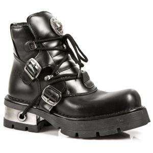 boty kožené NEW ROCK ITALI Y NOMADA NEGRO černá 40
