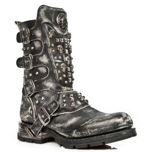 boty kožené NEW ROCK VINTAGE RASPADO černá 45