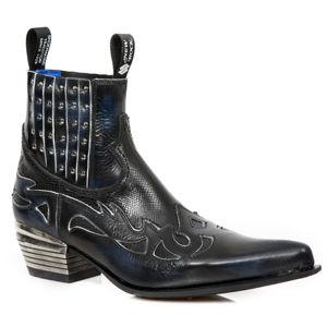 boty kožené NEW ROCK PULIK AZUL HUESO černá 43