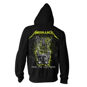mikina s kapucí NNM Metallica Splatter Lightning černá