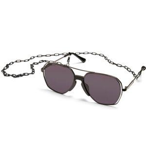 sluneční brýle URBAN CLASSICS - Karphatos With Chain - gunmetal/black - TB4214C