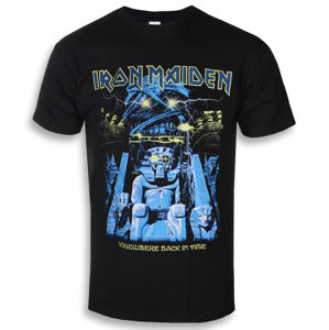 Tričko metal ROCK OFF Iron Maiden Back In Time Mummy černá XL