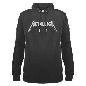 mikina s kapucí AMPLIFIED Metallica White Logo černá