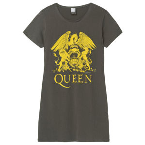 šaty dámské QUEEN - YELLOW CREST - CHARCOAL - AMPLIFIED - ZAV776D85 XXL