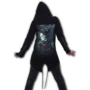 mikina s kapucí SPIRAL SHADOW RAVEN černá XXL