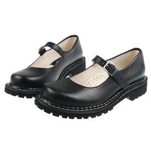 boty kožené STEADY´S Rock black černá