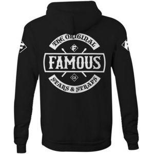 mikina s kapucí FAMOUS STARS & STRAPS CHAOS černá L
