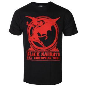 tričko pánské Black Sabbath - Europe '75 - ROCK OFF - BSTS40MB M