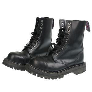 boty STEADY´S - 10 dírkové - Black - STE/10_black - POŠKOZENÉ - MA443 36