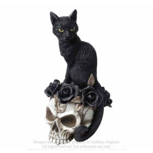 figurka ALCHEMY GOTHIC Black Cat & Skull