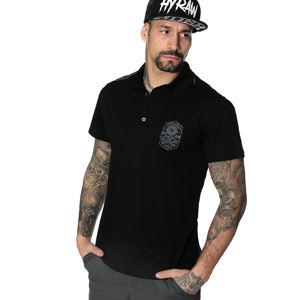 tričko hardcore HYRAW BADGE BLACK černá
