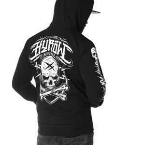 mikina s kapucí HYRAW STAY FCKNG HARD černá 3XL