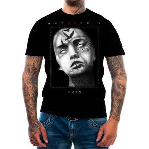 tričko ART BY EVIL Pain černá S